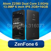 Original asus zenfone 6  Smart phone 6 inch  Intel Atom z2580 2GB RAM 16GB ROM Android 4.3 13MP Camera Dual SIM Mobile Phone