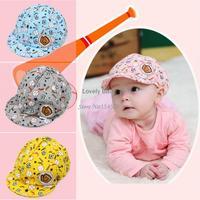 Spring Autumn Elastic 42-52cm Baby Caps Unisex Cotton Baby Hat Caps Cute Baseball Caps 3-24 Months Free Shipping B6 SV004956