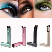 5PCS/Set Professional Pony Hair Eyeshadow Brushes Set Eye Makeup Tool Cosmetic Kit with Round Tube MAKE UP FOR YOU
