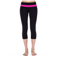 Queen yoga brand yoga clothing, Supplex fitness wear women yoga capris,cheap yoga capris for women