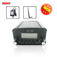 FM transmitter broadcast for radio station ST-7C stereo PLL +12V 4A power supply + small antenna kit whosesales