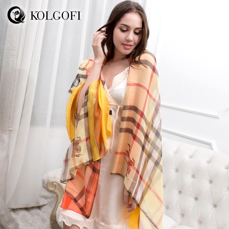 KOLGOFI New 2014 spain brand scarf fashion ladies Scarves wraps neckerchief large shawl women chiffon scarfs(China (Mainland))