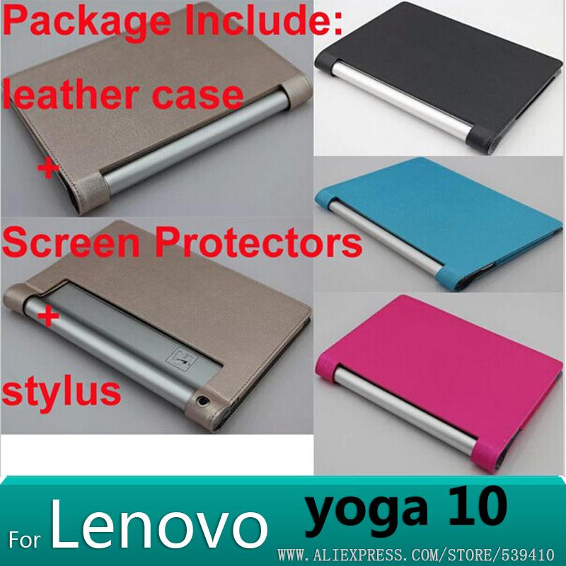 For Lenovo yoga b8080 case Smart case cover for Lenovo yoga tablet 10 HD+ b8080 10.1 tablet cover case + Screen protectors(China (Mainland))