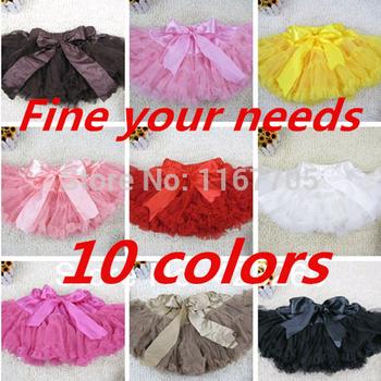 Бесплатная доставка Хиты 2014 продажа новые девочки шифон пушистый петти юбки балетной пачки принцесса юбки девочка одежда