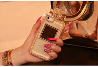 3D Bling Rhinestone Perfume Bottle Bow Chain TPU Handbag phone Case Cover for iPhone 4 5S 6 Plus Samsung S3 S4 S5 Note2 Note3/4