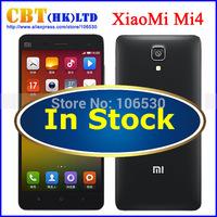 Original Xiaomi Mi4 Black TDD in Stock 3GB RAM 64GB ROM WCDMA Snapdragon 801 Xiaomi M4 Mi 4 Mobile Phone Miui 1080p 13mp NFC GPS