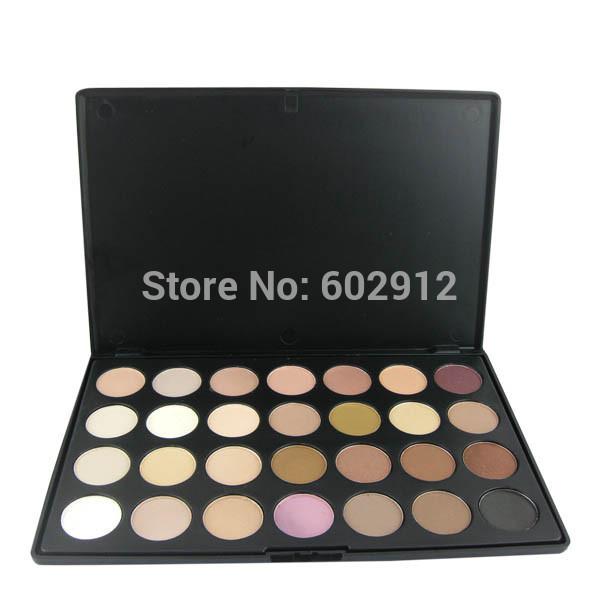 Professional 28 Color Neutral Warm Matte Eyeshadow Palette Paleta De Sombras De Ojos Eye Shadow Makeup Cosmetics Cosmeticos Kit(China (Mainland))