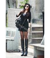 2014 New Fashion European Women Hoodie Ladies Jacket Coat Warm Outerwear Hooded Zip Women Sweatshirts B11 SV005850