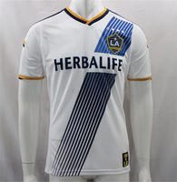 Free Shipping!New Season 14 15 Top Thailand Quality Los Angeles LA Galaxy Primary Jerseys 2015 White Home Soccer Jersey