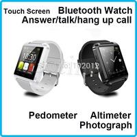 Smart Watch Men Hot Sale U8  Bluetooth Smartwatch WristWatch for Samsung S4/Note 2/Note 3  Android Phone Smartphones