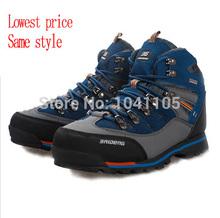 New 2014 men's high help outdoor hiking shoes men warm trekking shoes non-slip waterproof fishing shoes hiking boots 39-45(China (Mainland))
