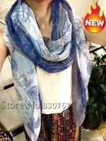 2014 Fashion style women national wind fresh white blue purplish cashew tassel Brand Scarf shawl big size classical 180cm*90cm