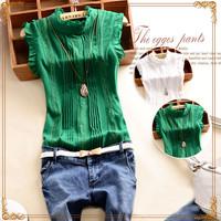 Summer Chiffon Blouse 2015 New Women  blusas femininas women clothing lace work wear sweet tops shirt camisas  Free shipping