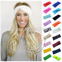 New Fashion Brand Solid Twist Sport Yoga Stretch Headband Women Turban Bandana Headwrap Hair Accessories Free Shipping A0406