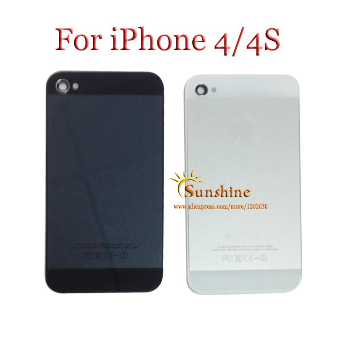 Make your phone Like 5 New style Matte Glass Back Cover Housing Replacement For iPhone 4 4g 4s with logo black white free ship(China (Mainland))