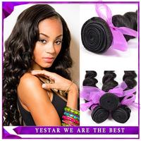 6A Unprocessed Virgin Human Hair Weave Brazilian Virgin Hair Loose Wave 1pcs Brazilian Loose wave Virgin Hair Weft Extension