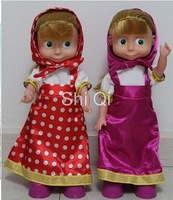 Free shipping Masha Doll New Hot Russian Masha and bear Musical Dancing Dolls toy Russian language electronic toy for Kids