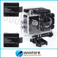 SJ4000 Black 12MP HD 1080P Car Cam Sports DV Action Waterproof Camera 2x Battery GoPro Camera Style