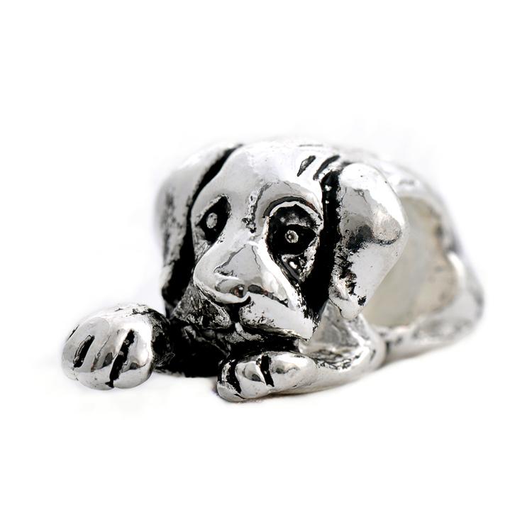 NEW Free Shipping 1pc Jewelry 925 silver Dog Bead Charm European Silver Doggie Bead Fit Pandora BIAGI Bracelet H279(China (Mainland))