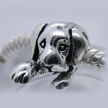 NEW Free Shipping 1pc Jewelry 925 silver Dog Bead Charm European Silver Doggie Bead Fit Pandora