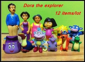 [ RedStar ] дора исследователь пвх рисунок игрушка в подарок 12 шт. / комплект пластиковые дора кукла пвх дора Playset / торт топпер статуэтки дора