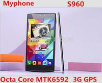 "Original Myphone S960 5.5"" IPS Octa Core MTK6592 2G RAM  8G ROM Android 4.4 GPS 3G WCDMA 5MP Dual Camera WiFi GPS Dual SIM"
