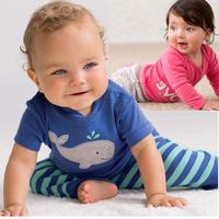 Carters Clothes Set Baby Girls Boys Cotton Cartoon Clothing Set Kids Long Short Bodysuit&PP Pant 2pcs Outerwear Children Clothes