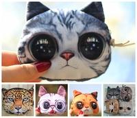 Fashion big face the cat coin purse cute animal zero wallet,change purse women zipper coin bags, clutch purse