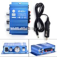 New Mini Hi-Fi Audio Stereo Amplifier For Cars Motorcycle Boat Home 12V Booster Speaker B18 SV006285