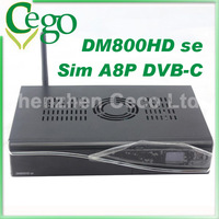 1pc  DM800se with SIM A8P Security Card with 300Mbps Wifi 800se DM800se DVB-C satellite receiver