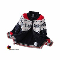 New Children Clothing  European Style Autumn Winter Boys Thick Warm Sweater Coat