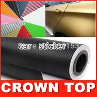 New 2015 Car Styling High Quality Car Stickers And Decals 60W x 10L cm 6color 3D Carbon Fiber Sheet Film Vinyl Car Sticker