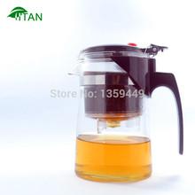 Hot!New 500ml simple tea kettle tea-pot Heat-Resistan Glass Teapot Convenient Office Tea Pot Set