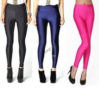 New 2014 the candy color elastic High waist Slim classic Stretch Spandex Leggings Fashion Footless Leggings pants B3