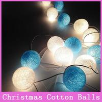 10x/set Christmas Cotton Balls Xmas Lamps Garland Fairy Bulbs Home Decoration Wedding Halloween Gift For String light