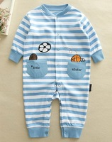 Baby Boys' Long Sleeves Rompers Infant Autumn One-Pieces 100% Cotton Knitted, 4 Sizes/lot for 3-18Months - CMLR07/08/13/22/23
