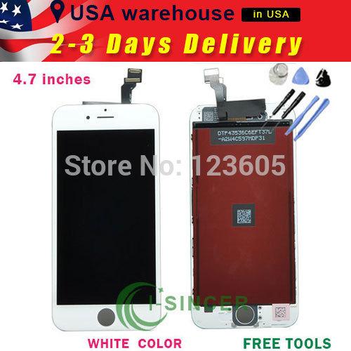 Черный жк дисплей планшета для iPhone 6 4.7 дюймов касания ассамблеи для iPhone 6 6 г