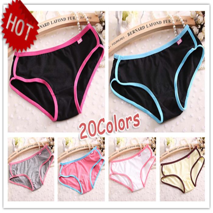 2014 Hot Sale Brand New Sexy Calcinha Female Candy Color Casual Women Cotton Underwear Panties Women's Butt Lifter Sports Briefs(China (Mainland))