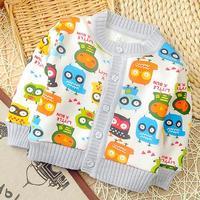 Baby Clothes New Fashion Autumn Winter Boys Girls Cartoon Printed Fleece Cardigans Sweatshirt Kids Thicke Hoodies Children Coat