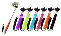 Black  Extendable Self Portrait Selfie Handheld Stick Monopod Tripod With Adjustable Clip Holder for Phone  Camera