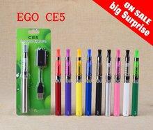 EGO CE5 Kit Electronic Cigarette CE5 Atomizer 1.6ml eg T Battery 650mah 900mah 1000mah EGO CE5 clearomizer e Cigarette Blister(China (Mainland))