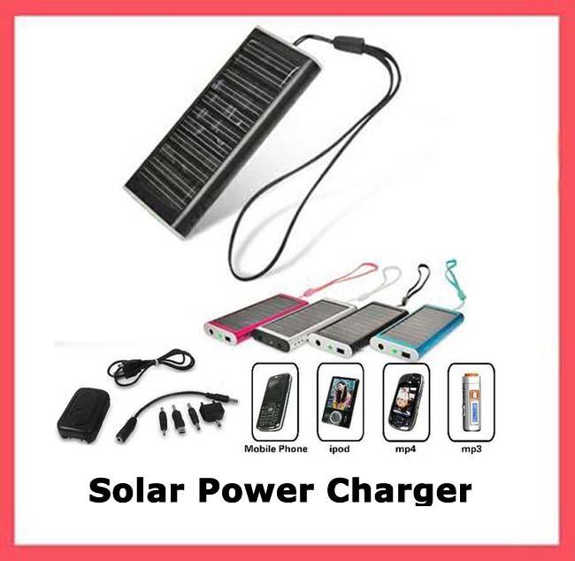Nieuwe hot wholesale elektronische 2014 nieuwe universele mobiele telefoon draagbare zonne-oplader voor mobiele telefoon mp3 mp4 pda gratis verzending