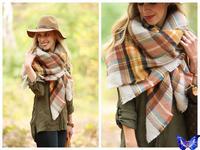 2014 Winter Scarves Imitation Cashmere Tassels Plaid Scarf Shawls Women Scarves Bufandas Infinity Scarf 140 * 140 CM