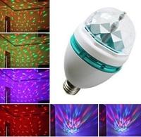 E27 RGB Colorful Effect Rotating Mini Round LED Bulb Crystal Magic Ball Light Stage Lamp for DJ Party Disco Bar KTV Lighting