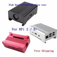 Geekworm Metal Box High Quality Aluminum Alloy Enclosure Case / Box / Shell for Raspberry Pi 2 Model B / Raspberry PI B+(China (Mainland))