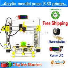 3D printer hot sale DIY kit reprap mendel prusa i3 melzi  J head nozzle heated bed big print size print ABS and PLA filament