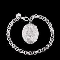 H349 Locket New Arrival Latest Women chic Locket Design 925 silver Stamp bracelet Factory pulseira / pulsera