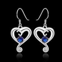 E530 HOT BEST SELLING 2014 New Design ruby 925 silver crystal earrings women sapphire amethyst Ohrring/boucle/brinco/pendiente