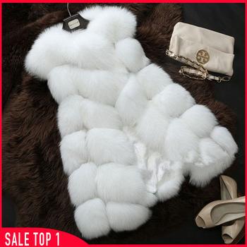 Новый 2015 зимнее пальто женщин мода импорт пальто оптовая апельсиновой корки лисий мех жилет высокого класса Cappa шуба отдых Shitsuke женщины пальто