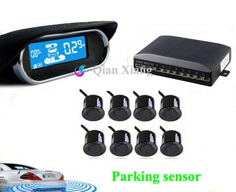 Car Parking Sensors 8 Weatherproof Rear Front View Reverse Backup Radar Kit System Electronics Accessories+LCD Display Monitor(China (Mainland))